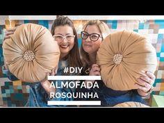 """Aprenda fazer """"Almofada Rosquinha"""" com tecido e frasco de máscara capilar Decorative Throw Pillows, Beautiful Flowers, Origami, Diy Home Decor, Decoupage, Diy And Crafts, Stitch, Youtube, Stencil"""