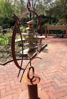 Really Cool Garden S Metal Art Rocks Steel