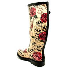 I might need these if all the snow melts. Ugly Shoes, Sock Shoes, Shoes Heels Boots, Heeled Boots, Mud Boots, Cute Rain Boots, Rubber Rain Boots, Funky Wellies, Boogie Shoes