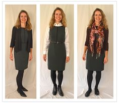 The sheath dress 3 ways!