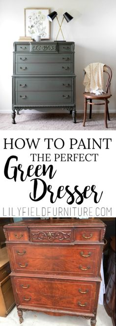 How to paint the perfect green dresser! - Lily Field Co.