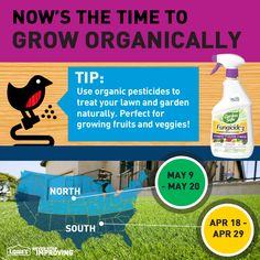 Tip: Use organic pesticides to treat your lawn and garden naturally. Perfect for growing fruits and veggies! #TimeToSpring