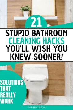 deep cleaning Make Bathroom cleaning easy with these clever bathroom cleaning hacks. this cleaning tips to deep clean your bathroom fast and easy! These brilliant cleaning tips, tricks, hacks, and ideas will help ensure that your bathroom is spotless! Diy Bathroom, Bathroom Cleaning Hacks, Household Cleaning Tips, Cleaning Day, Deep Cleaning Tips, Cleaning Checklist, House Cleaning Tips, Green Cleaning, Spring Cleaning