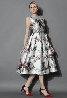 c3caa9ac1beb My Secret Garden Floral Prom Dress - Dress - Retro
