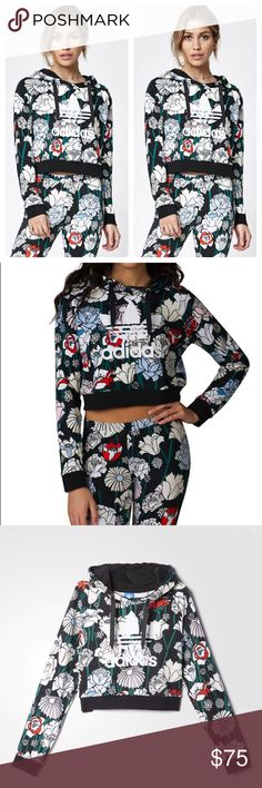 🔥adidas Originals Floral Cropped Hoodie 🔥adidas Originals Floral Cropped Hoodie in floral/multi, size small. Limited edition piece. Excellent condition- zero flaws, stains, etc. Features front logo with drawstring hood. adidas Tops Sweatshirts & Hoodies