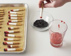 Chocolate Bread Stick Cigarettes - Mad Men Party - Projects Cakegirls