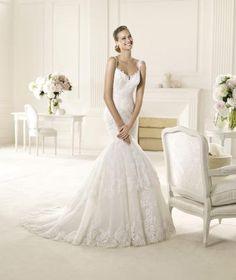 Sexy Luxuriöse Brautkleider  Tüll und Satin Spitze Meerjungfrau