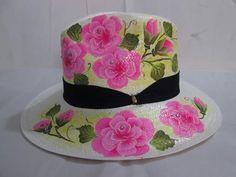 Luciana sombreros  pintados 100% a mano. Pedidos 3125681098-3125366773