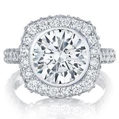Shop online TACORI HT26142RD10 Vintage Platinum Diamond Engagement Ring at Arthur's Jewelers. Free Shipping