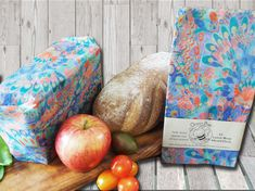 OceanBee beeswax wraps. This wrap is ideal for covering bread. It's wax properties ensure your bread is kept fresher for longer. The fabric's breathability helps reduce the development of mould whilst also protecting your bread from drying out. It is preferable to keep the OceanBee wrapped bread out of the fridge.