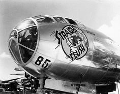 """Nose art on B-29 Superfortress """"Straight Flush"""" My dad's plane during WWII."""