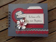 Idée de livre d'or de Baptême de Christine : http://scrapchristine.over-blog.com/article-le-bapteme-de-baptiste-109272075.html