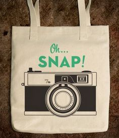Oh Snap! Retro Camera Tote