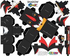 Shadow the Hedgehog cubee craft