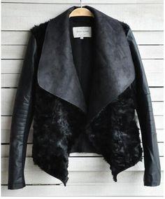 Купить товар2016 весной и зимой горячая распродажа новый европейский и американский мода женщины шуба тонкий короткий PU кожаная куртка женщины черной S XL в категории Кожа и замшана AliExpress.