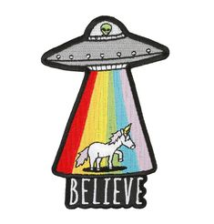 Convey your true-believer status with this UFO patch. | 39 Magical Gifts For The Unicorn In Your Life