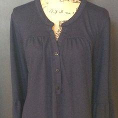 Ice silk dress Ice silk navy dress with bell ruffle sleeves, size 2xl Ice silk Dresses Midi