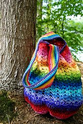 The Rainbow Bag - Free Crochet Pattern by Olga Fedjukova