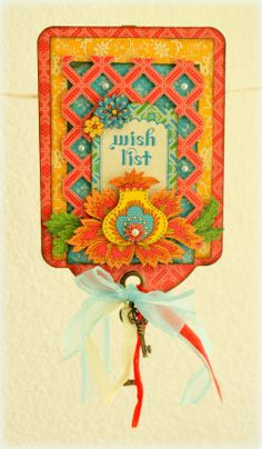 Beautiful Bohemian Bazaar tag by Romy - love the details #graphic45 #tags