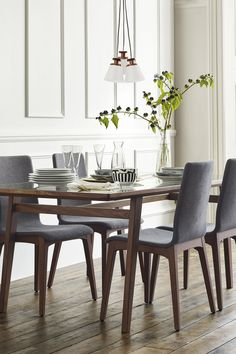 Refresh your decor with contemporary dining room table and chairs in traditional colours to suit many rooms. #traditionaldiningroomideas ome Decor Inspiration home decor, home inspiration, furniture, lounges, decor, bedroom, decoration ideas, home furnishing, inspiring homes, decor inspiration. Modern design. Minimalist decor. White walls. Marble countertops, marble kitchen, marble table. Contemporary design. Mid-century modern design. Modern rustic. Wood accents. Subway tile. Moroccan rug.