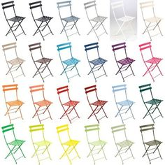 Fermob Bistro Folding Chairs available in 24 powder-coat colors. Also available as Bar Stool and Table.
