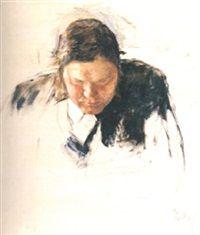 Skolbestyrer Simon Wright hofgaard by Erik Theodor Werenskiold