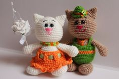 crochet toy / cats (+ free russian pattern)