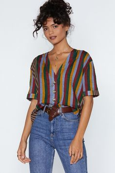 a2b2350c6542 Yeah Stripe Relaxed Shirt | Shop Clothes at Nasty Gal! Cute Summer Outfits,  Trendy