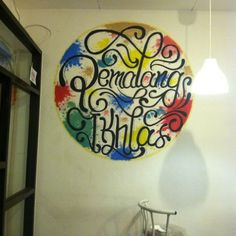 STEFF DRAWING ART #seventea #pemalangikhlas #watercolor #lettering #mural #pictureswall