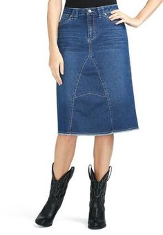 Cato Fashions Arrow Accent Denim Skirt CatoFashions 27 Inches Long