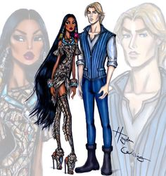 'Disney Darling Couples' by Hayden Williams: Pocahontas & John Smith ‪#‎Disney‬