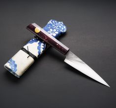 Purple Maple Classic French Utility kitchen knife by Don Carlos Andrade.