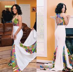 – 30 Times African Print Prom Dresses Stole The Scene! African Prom Dresses, African Wedding Dress, African Dresses For Women, African Attire, African Fashion Dresses, African Wear, African Women, African Style, Maxi Dresses