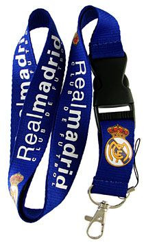 Real Madrid Keychain Lanyard Electronic device connector for cell phone, player or camera Vibrant Color Detachable Plastic Clip with Keyring and Clip Team Logo And Team Word Mark in team colors X In Size Real Madrid Football Club, Real Madrid Soccer, Team Word, Lanyard Keychain, Plastic Clips, Accessories Store, Mp3 Player, Cool Gifts, Personalized Items