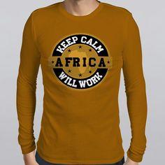 Keep Calm Africa Brown Long-sleeve T-shirt