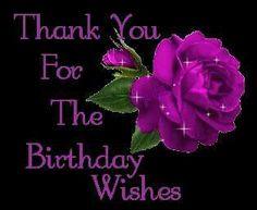 Birthday thanks