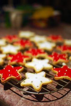 Christmas Cooking Recipe Dessert Star Biscuits Cookies