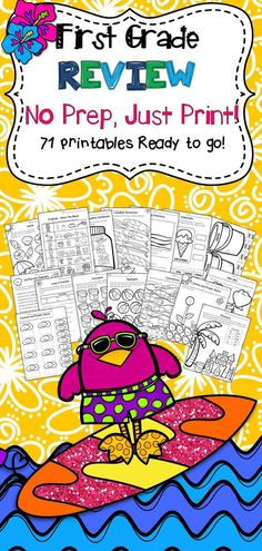 This product contains 71 pages of First Grade ELA Review. Perfect for the end of first grade or during back to school time in second grade! There are so many engaging activities here to keep your students reviewing leaving you free to finish all that love