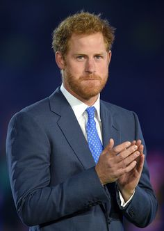 Prince Harry attends the Rugby World Cup 2015 Opening Ceremony at Twickenham Stadium on September 18, 2015 in London, England.
