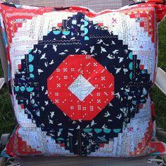 Amazing mini log cabin cushion - love love love!