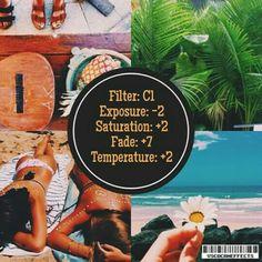 C1 Exposure -2 Saturation +2 Fade +7 Temperature +2