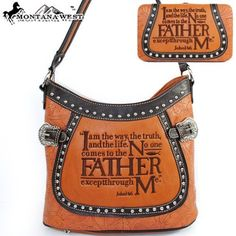$53.99Amazon.com: Montana West Western Cow Girl Bible Verses Embroidered Rhinestone Studded Buckle Handbag Western Shoulder Purse with Wallet in Camel Brown: Clothing