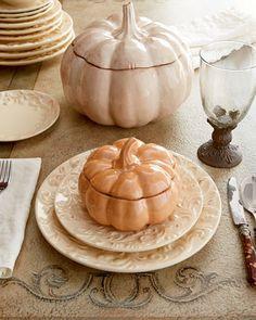 Ceramirupe Four Pumpkin Soup Bowls