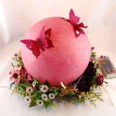 Frühlingshafte Leuchtkugel in altrosa Schmidt, Decorating Your Home, The Originals, Spring, Crafts, Paper, Paper Lanterns, Dusty Pink, String Lighting