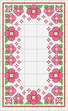 needles and magic arts Cross Stitch Borders, Cross Stitch Flowers, Cross Stitch Designs, Cross Stitching, Cross Stitch Embroidery, Hand Embroidery, Cross Stitch Patterns, Chicken Scratch Embroidery, Plastic Canvas Coasters