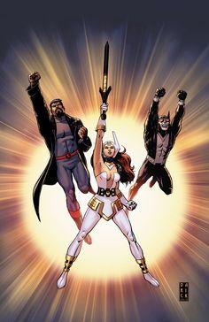 Justice League: Gods and Monsters - Wonder Woman, Superman, and Batman by Darick Robertson * Batman Wonder Woman, Comics Universe, Comic Book Characters, Comic Books Art, Comic Art, Book Art, Dc Trinity, Midtown Comics, Batman