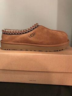 a5eafbac4c3 (eBay link) UGG Tasman Womens SZ 10 Chestnut Shearling Slippers  Moccasins  5955 Authentic