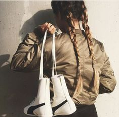Jacket: fashion grunge style girl girly women winter outfits white army green army green bomber high