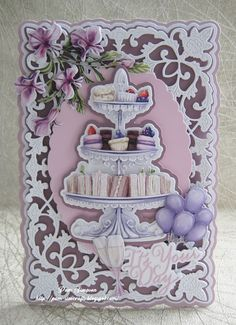 Birthday Wishes, 2nd Birthday, Birthday Cards, December 11, 8th Of March, Tattered Lace Cards, Create And Craft, Carnations, Greeting Cards Handmade