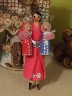 Mooma and her twins Peg dolls  Feb 2014
